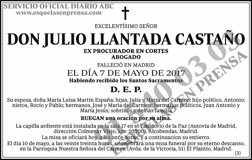 Julio Llantada Castaño